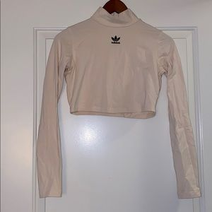 Adidas crop top turtle neck